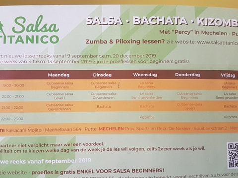 Zumba januari - april 2020 in Mechelen en Putte